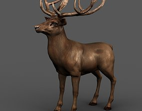 3D asset deer adapted to the rigging
