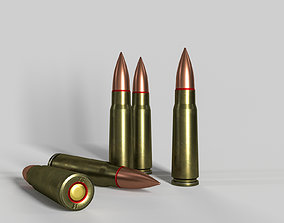 Soviet or Russian cartridge for AK-47 3D asset PBR