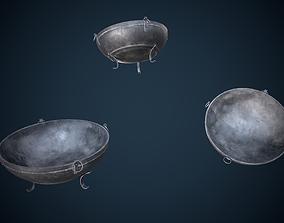 3D asset Viking Bowl Brazier