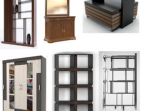 Wardrobes bedside tables closets and nightstands 48 3D