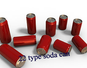3D model 22 Beverage Can set