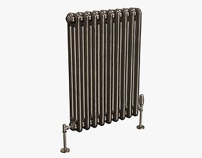 3D Column bare radiator horizontal 03