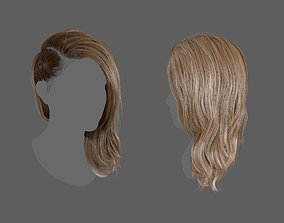 Side Plait Realtime Hair 3D model