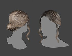 realtime hairstyle 3D asset