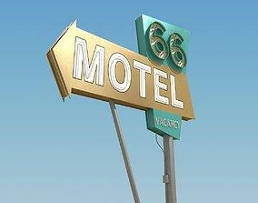architectural Motel Sign 3D model