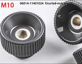 3D Nuts M10 06014-11401024 Knurled-nuts plasitc 3D Print