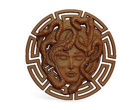 3D printable model Medusa bas-relief