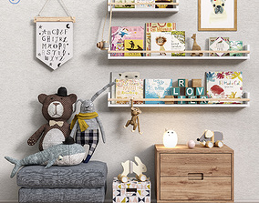 Toys and furniture set 38 3D