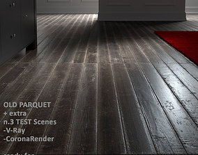 3D Old Parquet with SceneTEST