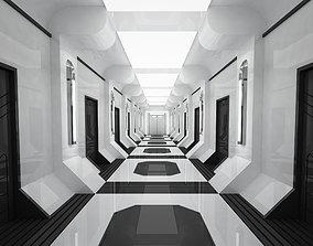 SCI FI INTERIOR SCENE SPACE SHIP CORRIDOR 3D model