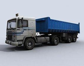 3D model game-ready Dump Truck construction