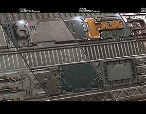 3D Sci Fi trim sheet textures 01