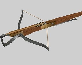 Medieval CrossBow 3D model animated