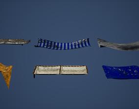 Tarp Set Game Ready 3D model