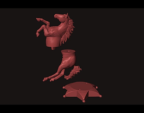 Furia horse 3D print model animal