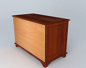 3D cabinet in mahogany 2