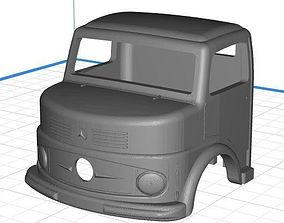Body Cab Truck Mercedes 1113 - Kipper 3D print model