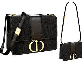3D Dior 30 Montaigne Bag Black Oblique Jacquard
