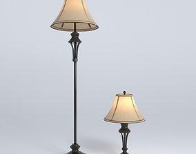 Lamp collection - floorlamp tablelamp 3D