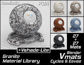 VMATS Granite Material Library for Blender 3D model 2