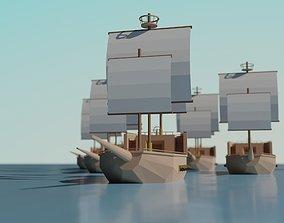 3D model Low Poly Ship