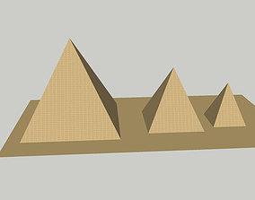 3D Egyptian pyramids