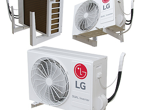 LG - P12SP external air conditioning unit 3D