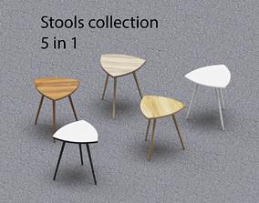3D model Stool 5 in 1