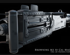 army 3D model Browning M2 50 Cal Machine Gun
