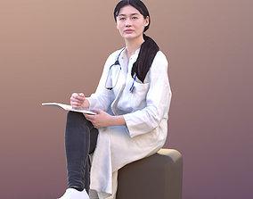 Francine 10365 - Sitting Asian Doctor 3D model