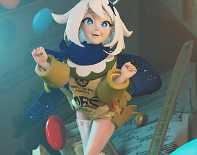 3D model animated Paimon is emergency food