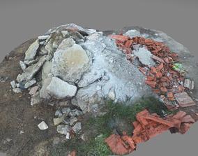 3D asset Rubble mound 3