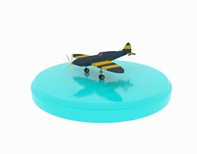 3D asset Airplane cartoon - 01