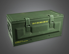 Military Supply Container 02 - MLT - PBR Game 3D model