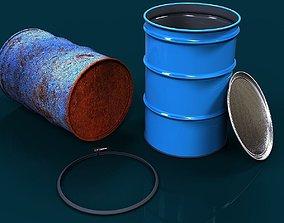 55 gallon barrel open top 3D