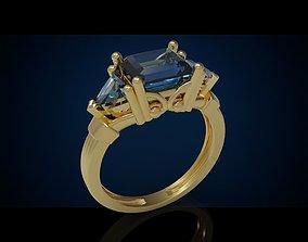 Three gemstone ring Cg 3 19 3D print model