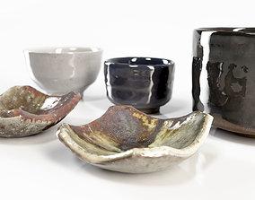 Japanese Tableware Set 3D asset
