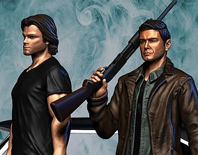 Supernatural - Dean and Sam 3D printable model