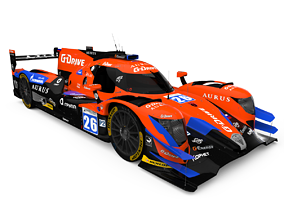 Oreca 07 G-Drive Racing 3D model realtime