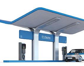 3D EV charging station
