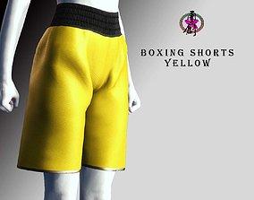 Boxing Shorts - Yellow 3D model