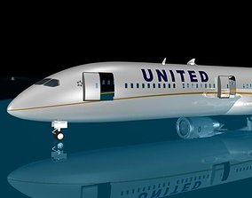 3D model United Airlines 787-10X