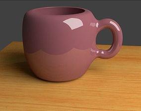 3D model VR / AR ready Coffee Mug