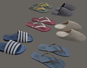 3D Slippers and Flip-Flops