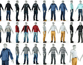 3D 10 Casual Male Outfits V3