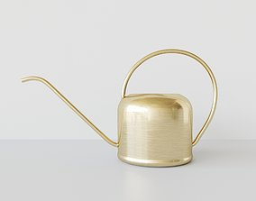 watering can brushed brass 3D PBR