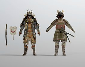 3D model MEDIEVAL japanese Samurai