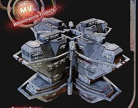 3D model PBR Realtime Space Station