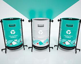 Trash can concept design 3D model