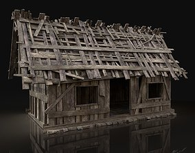 3D model Simple Wooden Swamp Hut
